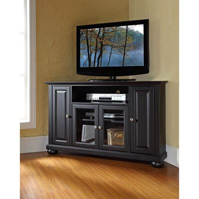 Picture of Alexandria 48in Corner TV Stand, Black *D