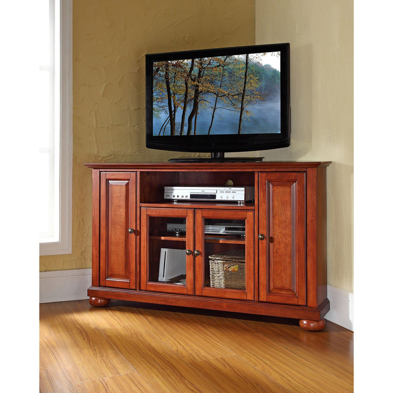 Picture of Alexandria 48in Corner TV Stand, Cherry *D