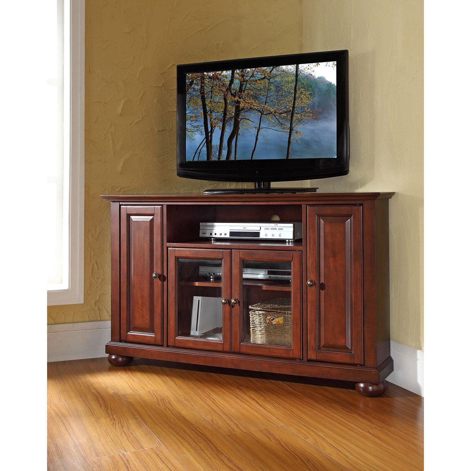 Picture of Alexandria 48in Corner TV Stand, Mahogany *D