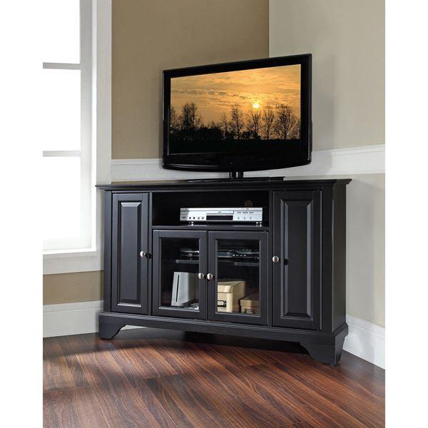 Picture of Lafayette 48in Corner TV Stand, Black *D