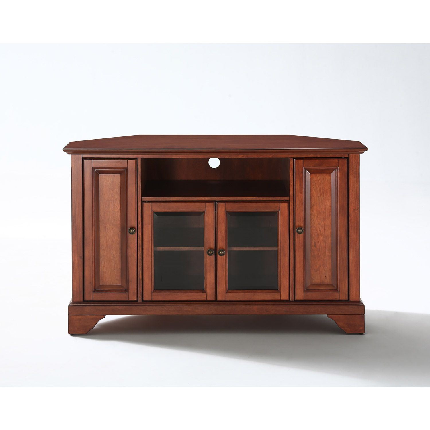 Picture of Lafayette 48in Corner TV Stand, Cherry *D