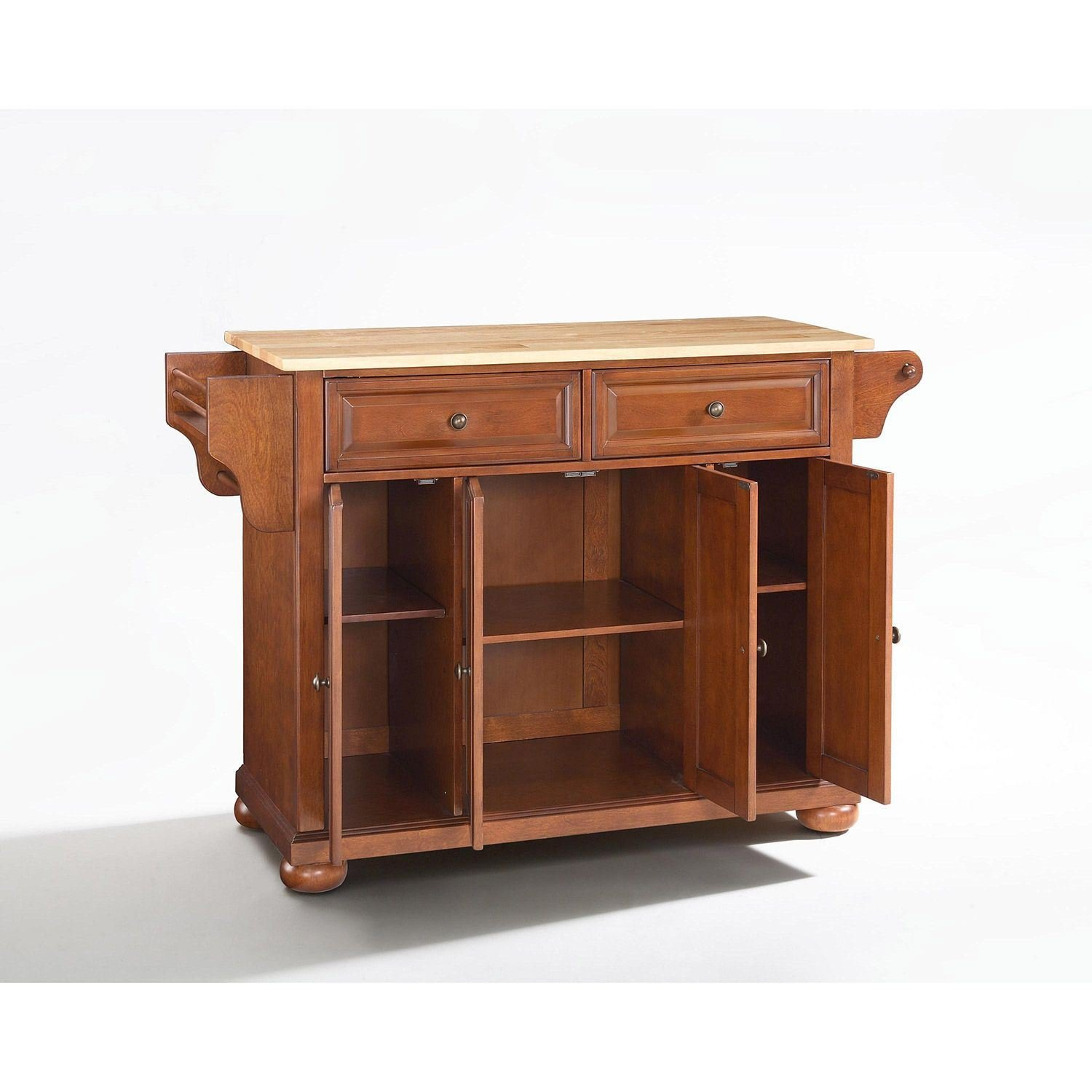 Picture of Alexandria Wood Top Kitchen Cart, Cherry *D