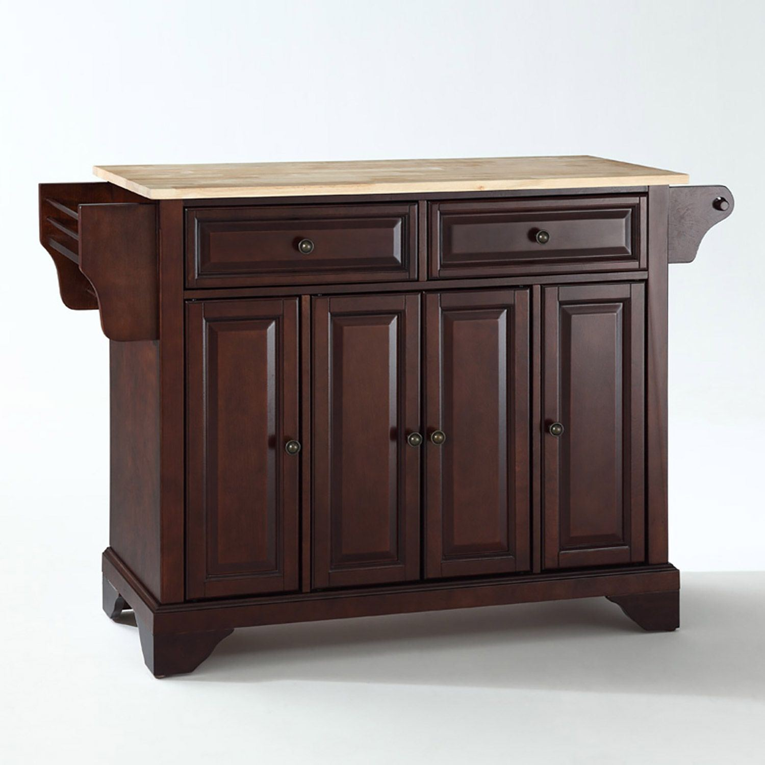 Picture of Lafayette Wood Top Kitchen Cart, Mahogany *D