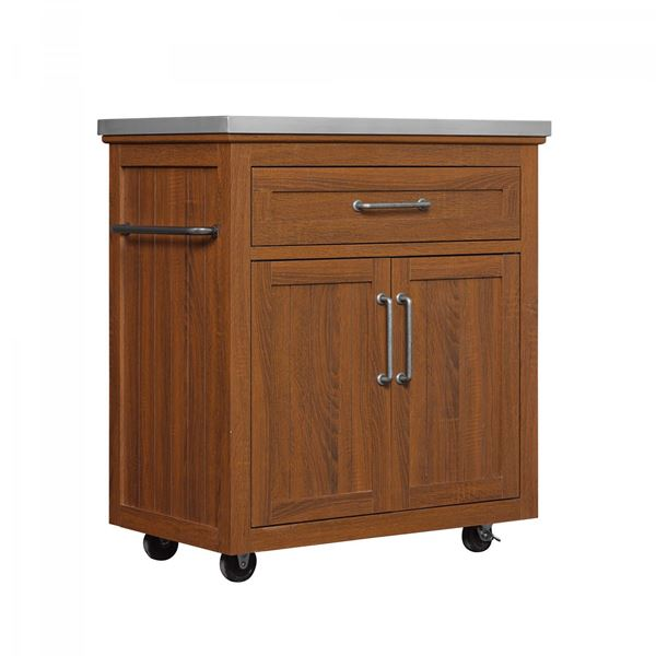 Picture of Madeleine Kitchen Cart with Stainless Steel Top *D