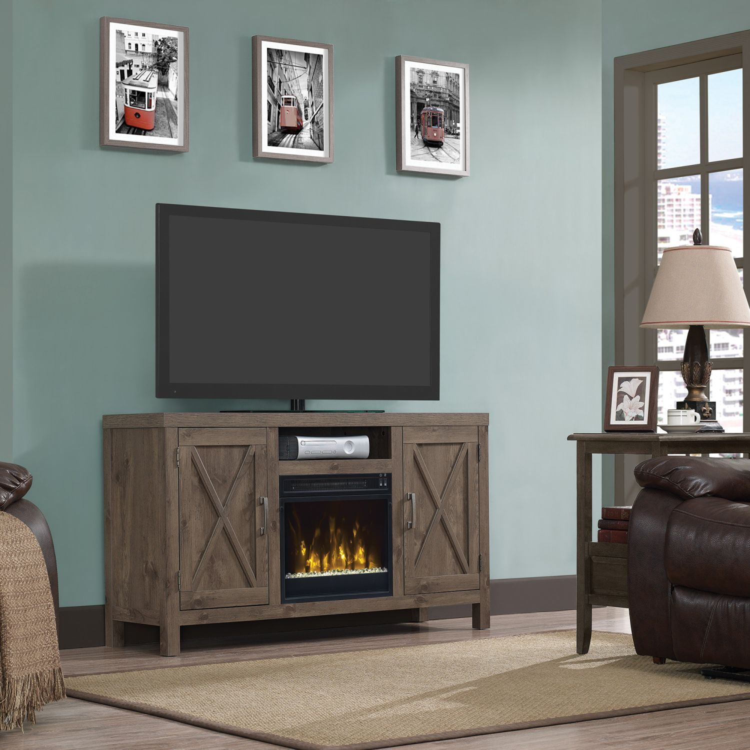Humboldt Tv Stand For Tvs Up To 55 With Fireplace 18mm6076 Pi14s