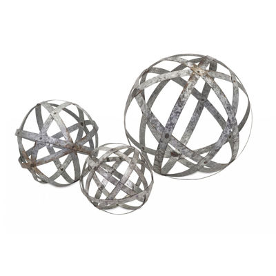 Picture of Set 3 Galvanized Spheres