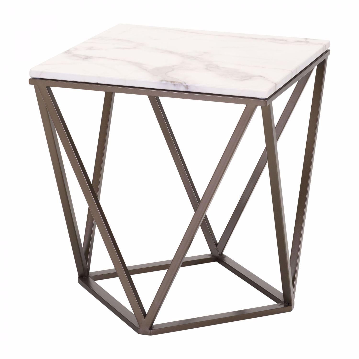 Picture of Tintern End Table Stone & Antique Brass *D