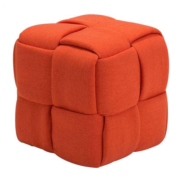 Picture of Checks Stool Orange *D