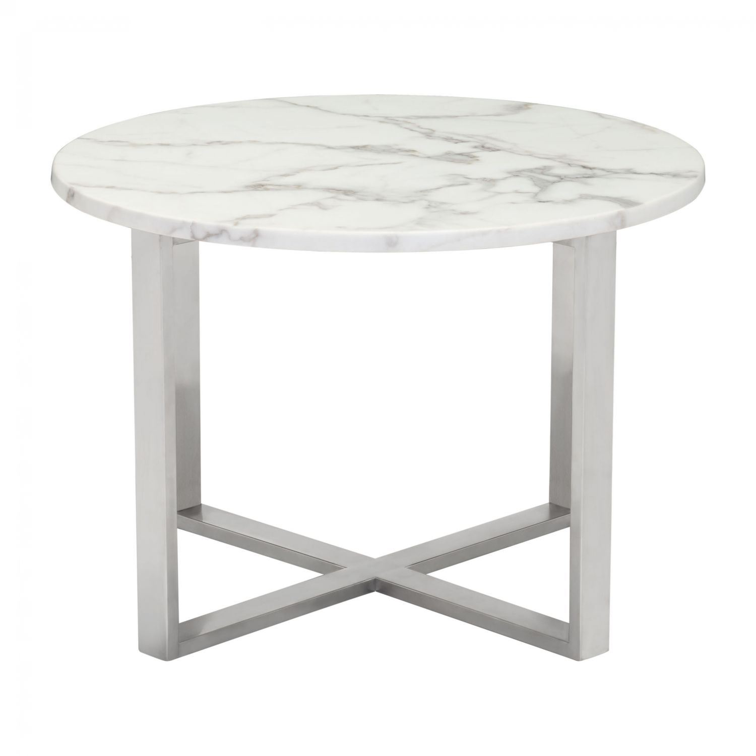 Picture of Globe End Table Stone & Stainless Steel *D