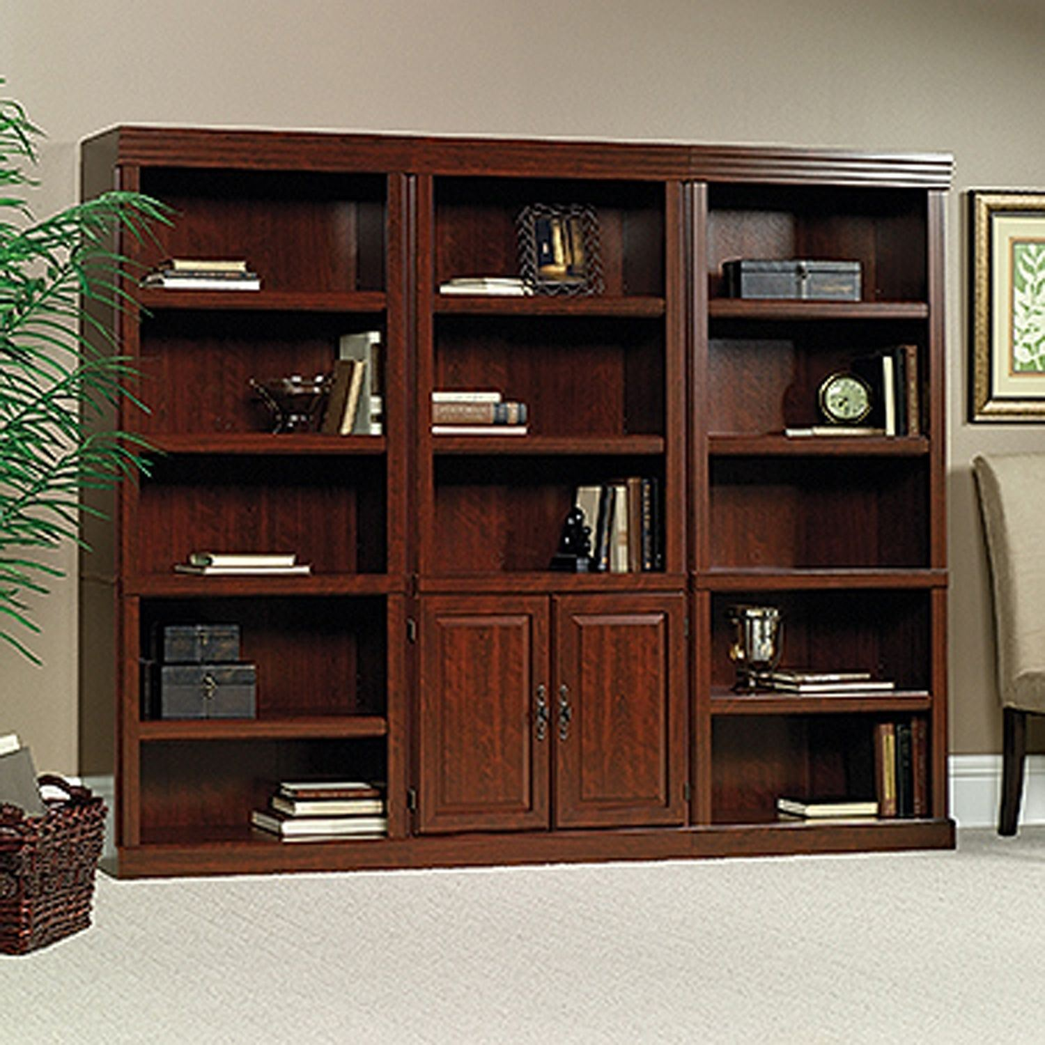 Picture of Heritage Hill Library With Doors Classic Cherry *