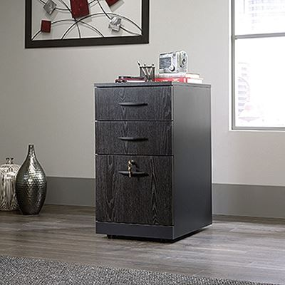 Picture of Via 3-Drawer Pedestal Bourbon Oak * D