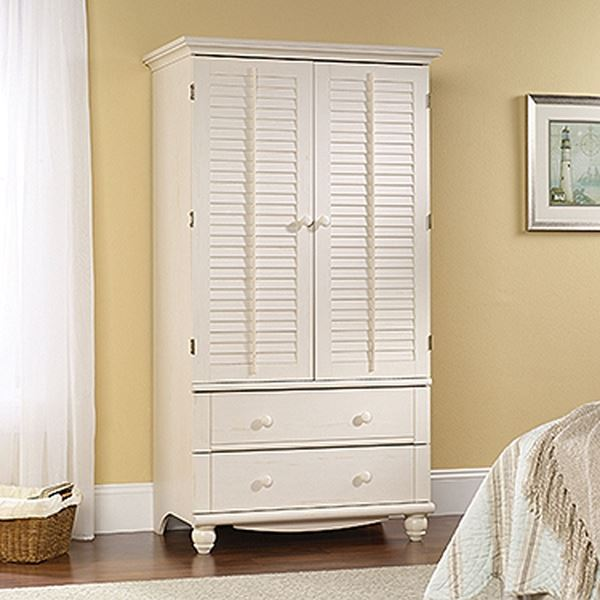 Picture of Harbor View ArmoireAntiqued White * D