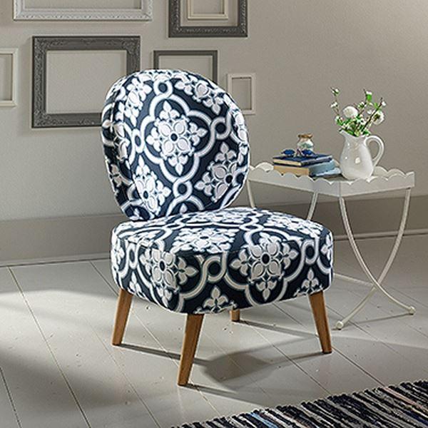 Picture of Eden Rue Maya Accent Chair Indigo Arabesque * D