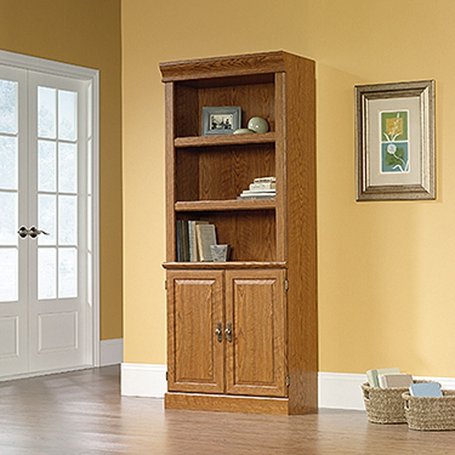 Picture of Orchard Hills Library With Doors Carolina Oak * D