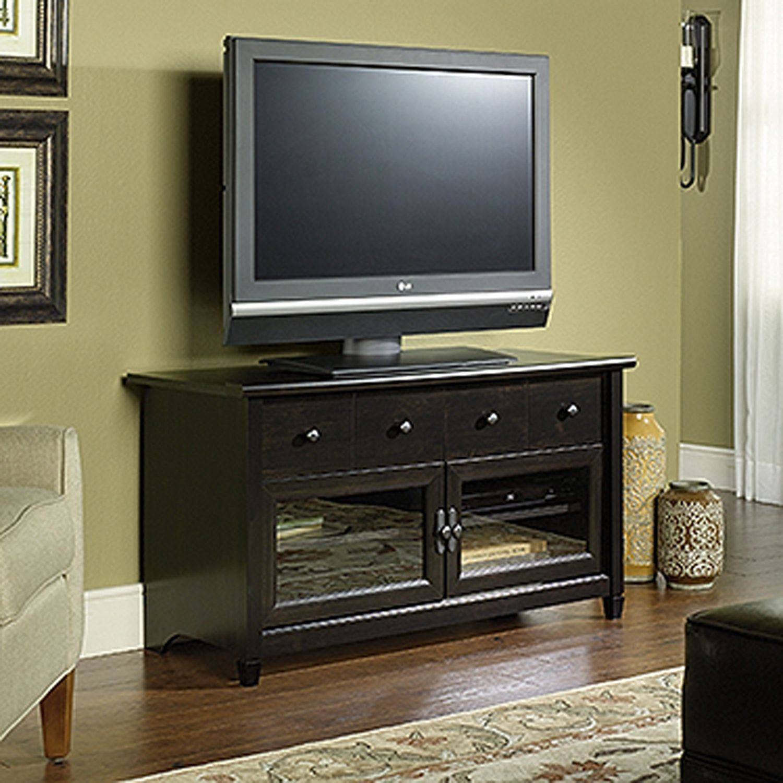 Edge Water Panel Tv Stand Estate Black D 409047 Sauder