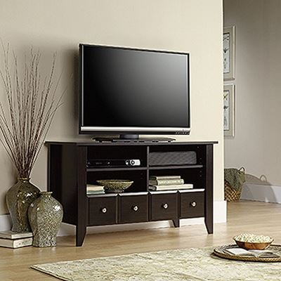 Picture of Shoal Creek Panel Tv Stand Jamocha Wood * D