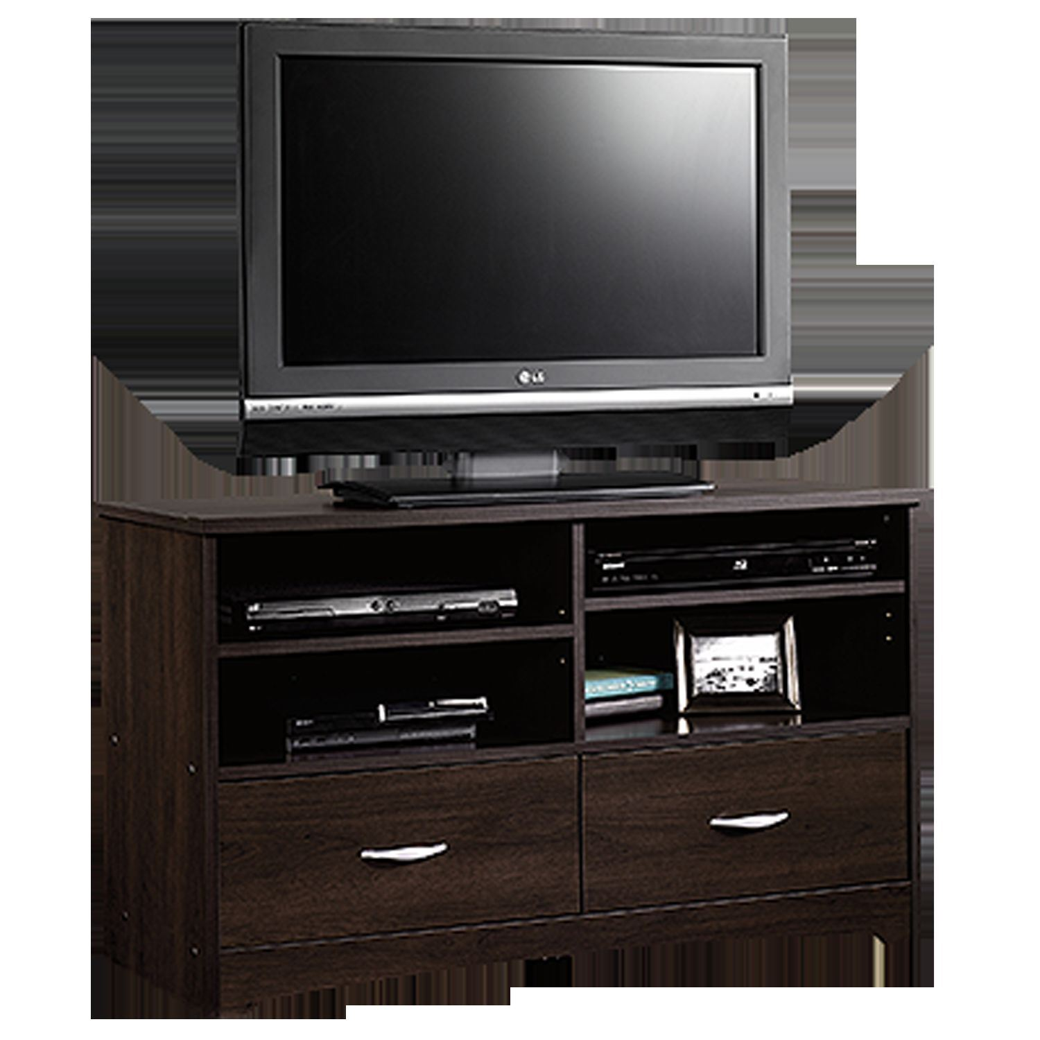 Beginnings Tv Stand Cinnamon Cherry D 413045 Sauder