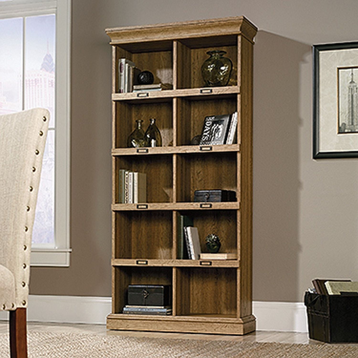 Picture of Barrister Lane Tall Bookcase Scribed Oak * D