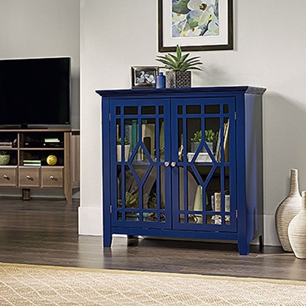 Picture of Shoal Creek Display Cabinet Indigo Blue * D