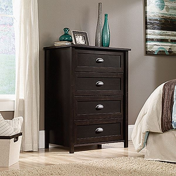 Picture of County Line 4-Drawer Chest Estate Black * D