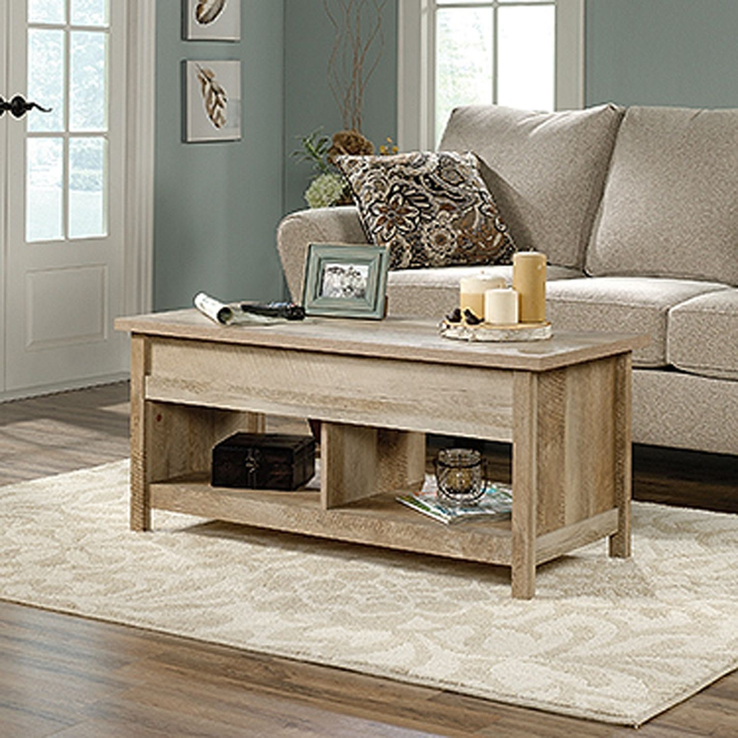 Fine Cannery Bridge Lift Top Coffee Table Lintel Oak Pabps2019 Chair Design Images Pabps2019Com