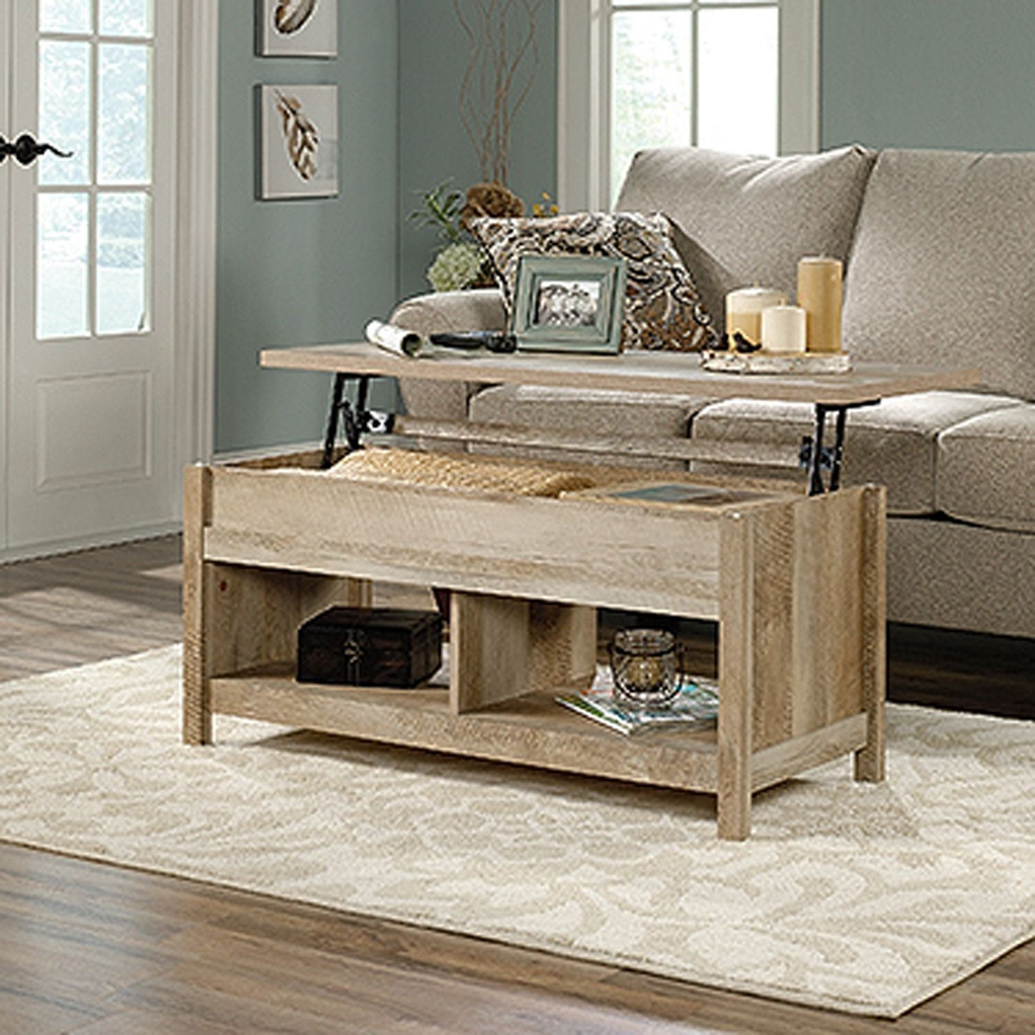 Picture of Cannery Bridge Lift Top Coffee Table Lintel Oak *