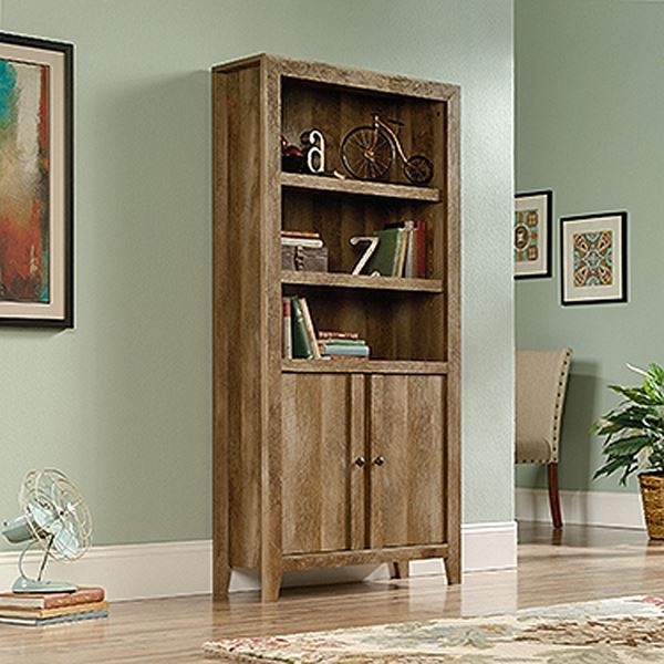 Picture of Dakota Pass Library With Doors Craftsman Oak * D