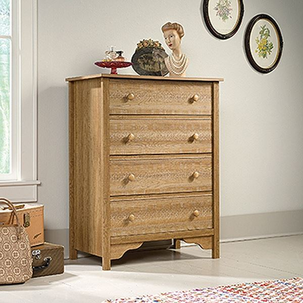 Picture of Eden Rue 4-Drawer Chest Scribed Oak * D