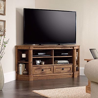 Picture of Palladia Corner Entertain Credenza Vintage Oak * D