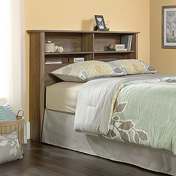 Picture of County Line Full/Queen Bookcase Headboard Salt Oak