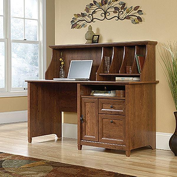 Picture of Edge Water Computer Desk W/hutch Auburn Cherry * D