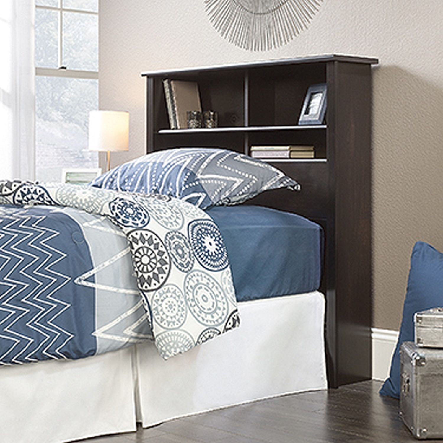 County Line Twin Bookcase Headboard Estate Black