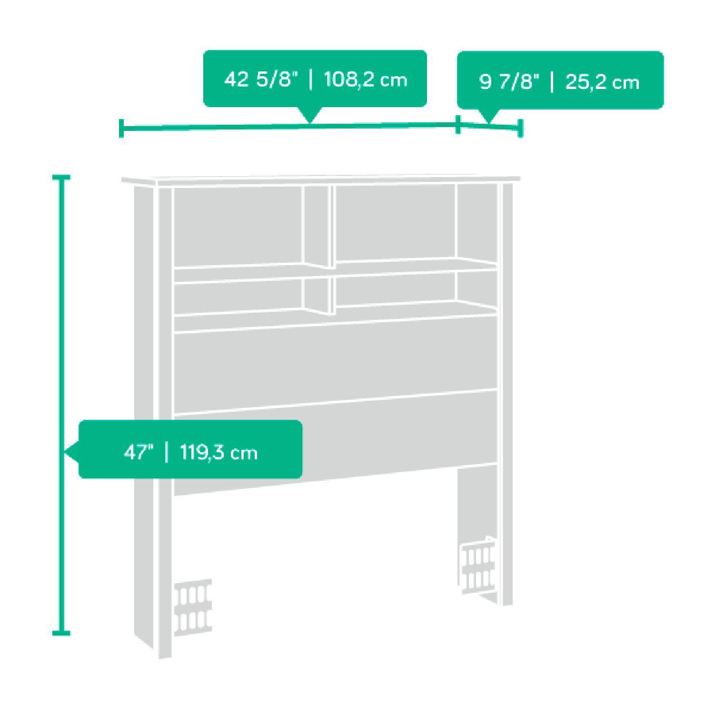 Picture of County Line Twin Bookcase Headboard Estate Black *
