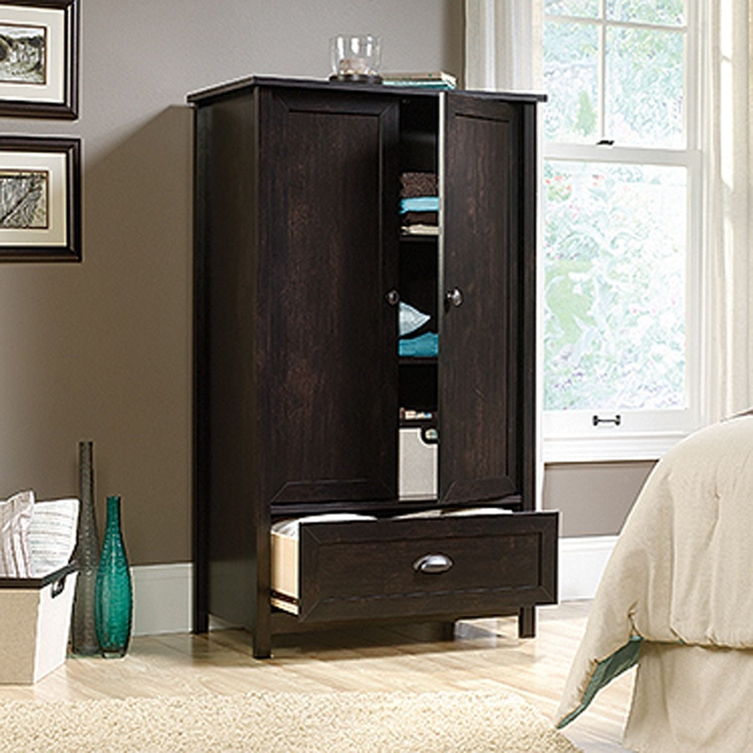 Picture of County Line Armoire Estate Black * D