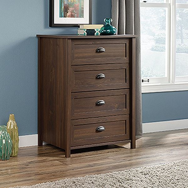 Picture of County Line 4-Drawer Chest Rum Walnut * D