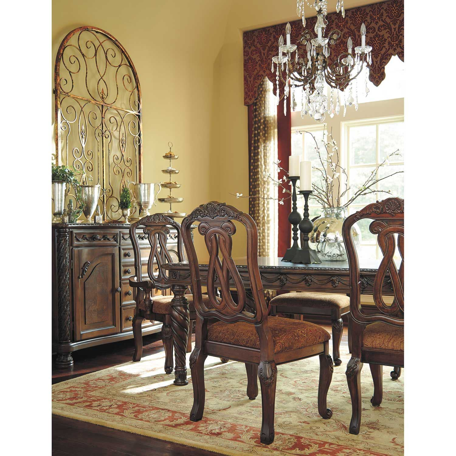 North Shore Dining Room Set: North Shore 9 Piece Dining Set D553-9PC