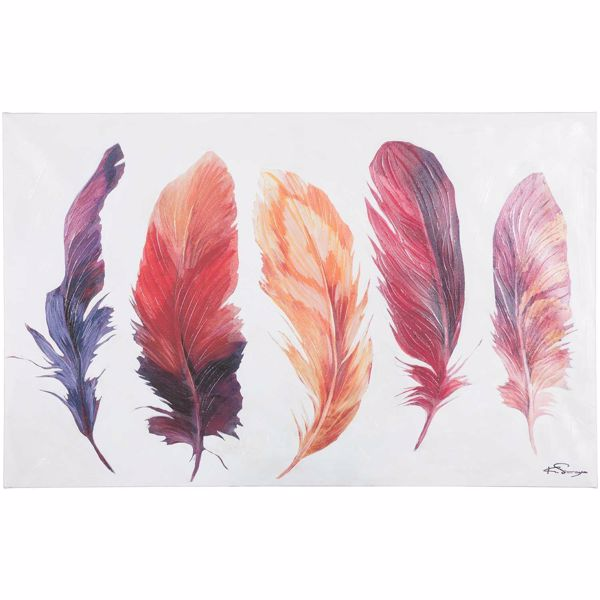 Picture of Print And Paint Canvas Feather