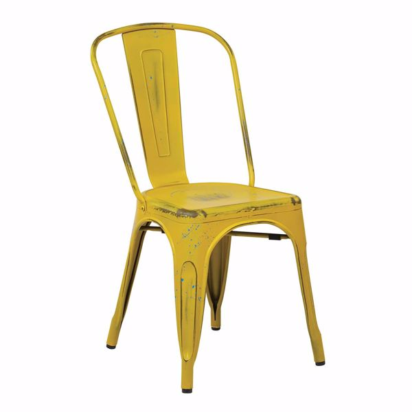 Picture of Bristow Yellow Armless Chair, 4-Pack *D