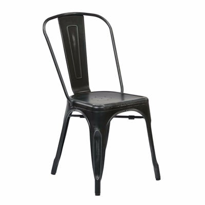 Picture of Bristow Black Armless Chair, 2-Pack *D