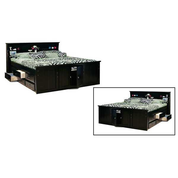 Picture of Laguna Queen Bookcase Bed with 2 Underbed Storage Units