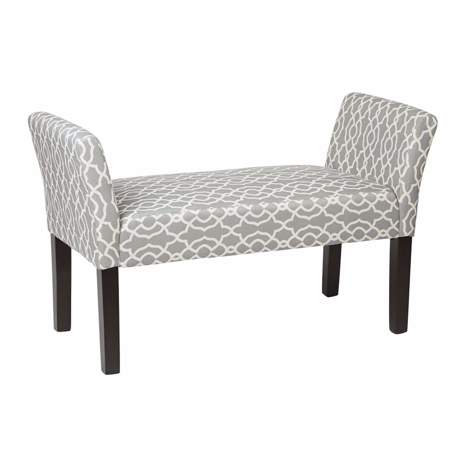 Cool Kelsey Grey Fabric Bench D Kls20 G16 Osp Office Star Gmtry Best Dining Table And Chair Ideas Images Gmtryco