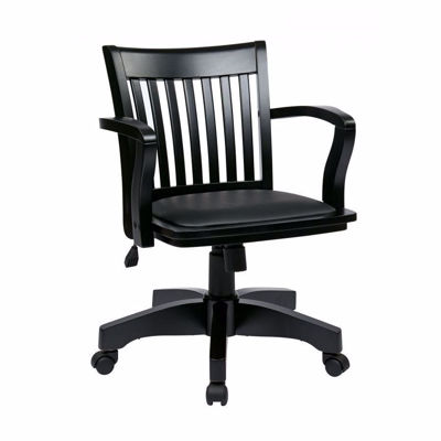 Picture of Black Wood Office Chair *D