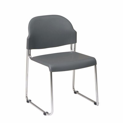 Picture of Grey Plastic Stacking Chair, 2-Pack *D