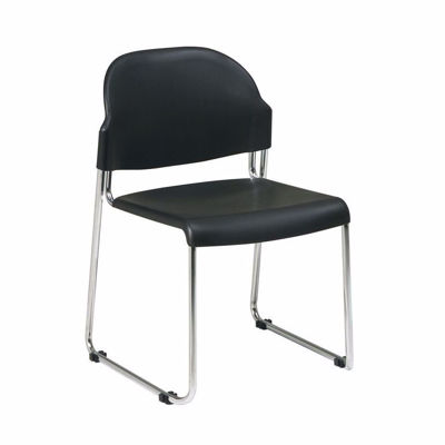 Picture of Black Plastic Stacking Chair, 2-Pack *D