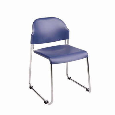 Picture of Blue Plastic Stacking Chair, 2-Pack *D