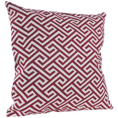 Picture of Red Greek Key 22x22 Pillow *P