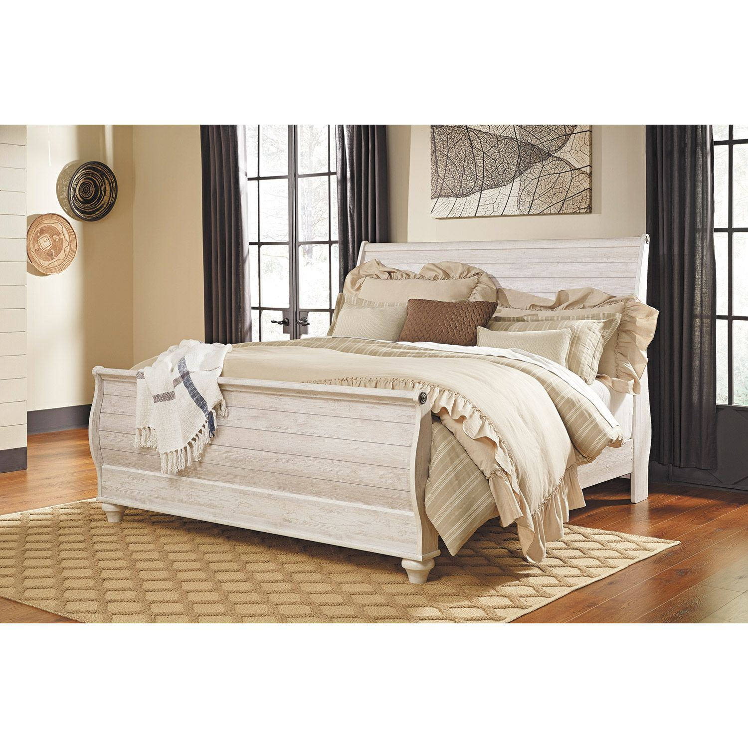 Willowton queen sleigh bed b267 qsleighbed ashley - Ashley furniture sleigh bedroom set ...