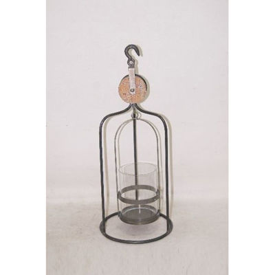 Picture of Metal Glass Dome Candle Holder