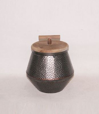 Picture of Metal W Wood Top Container