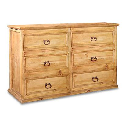 Picture of Hacienda Rustic 6 Drawer Dresser